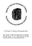 1972 Stanley A. Bauman Photograph Index by Stonehill College Archives