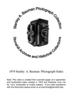 1979 Stanley A. Bauman Photograph Collection Index by Stonehill College Archives