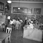 Studying in Library by Stanley Bauman