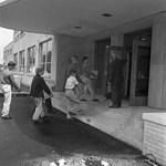 Visit to New North Junior High School by Stanley Bauman
