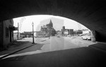Arch of Railroad Bridge over School Street by Stanley Bauman