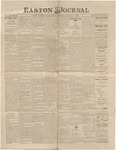 Easton Journal, October 10, 1885 by Easton Historical Society