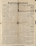Easton Journal, January 22, 1886 by Easton Historical Society