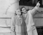 Rocky Marciano with his father in Philadelphia by Stanley Bauman
