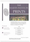 The Martin Institute Prints, Spring 2017 by Stonehill College Martin Institute