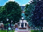 The MacPhaidin Library Surrounded by Trees by Jennifer M. Macaulay