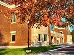 Fall Surrounds the Library by Jennifer M. Macaulay